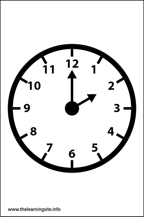 Clock Faces Coloring Page 2 o'clock