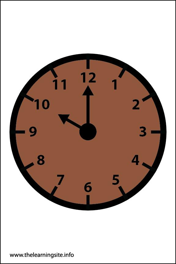 Clock Faces Flashcard 10 o'clock