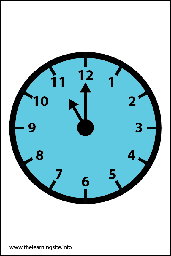 Clock Faces Flashcard 11 o'clock