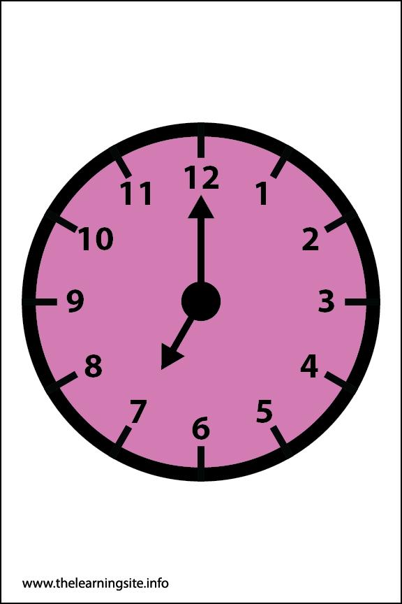 Clock Faces Flashcard 7 o'clock