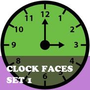 Clock Faces Set 1