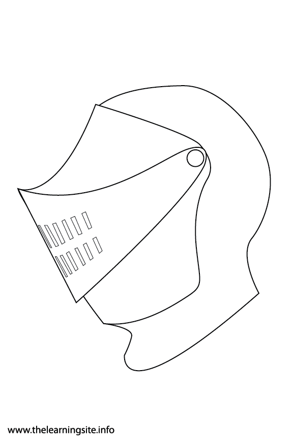 Fantasy Haloween Coloring Page Knight Helmet