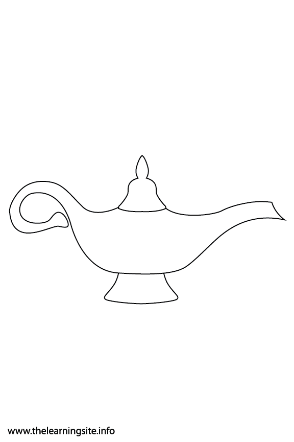 Fantasy Haloween Coloring Page Magic Lamp