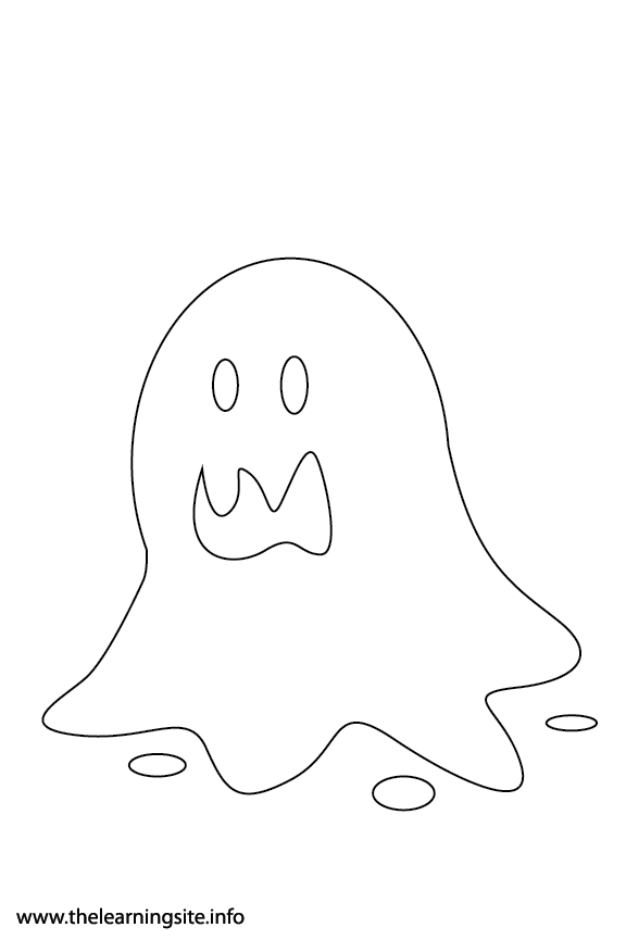 Fantasy Haloween Coloring Page Slime Monster