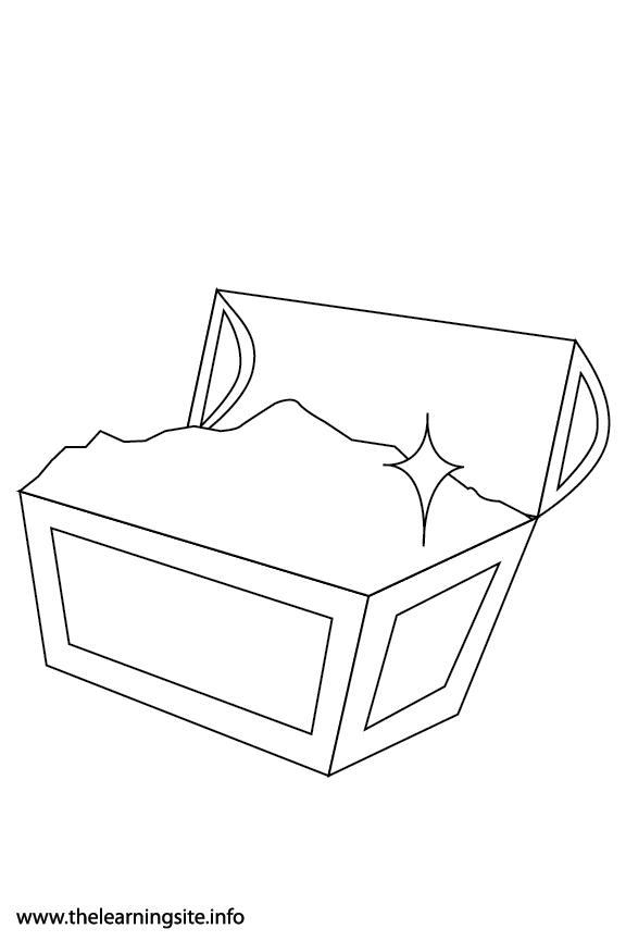 Fantasy Haloween Coloring Page Treasure Chest