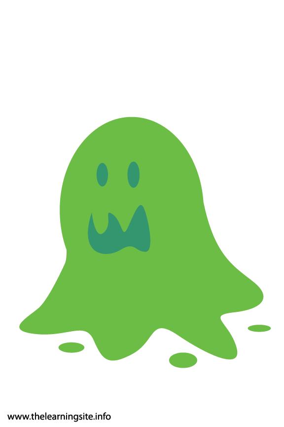 Fantasy Haloween Flashcard Slime Monster