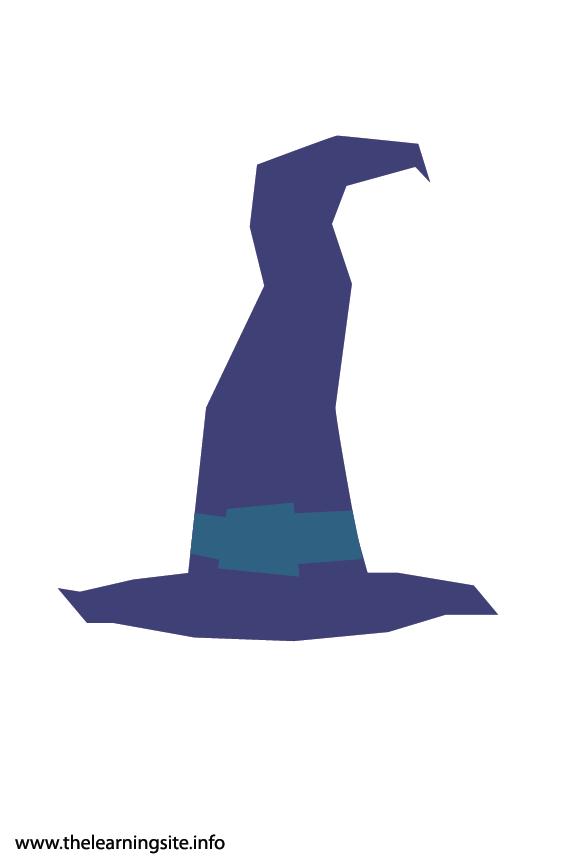 Fantasy Haloween Flashcard Wizard Hat