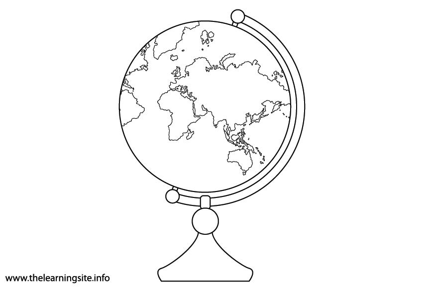 Science Tool Globe Flashcard