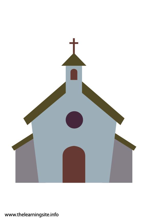 Easter Church Flashcard Illustration