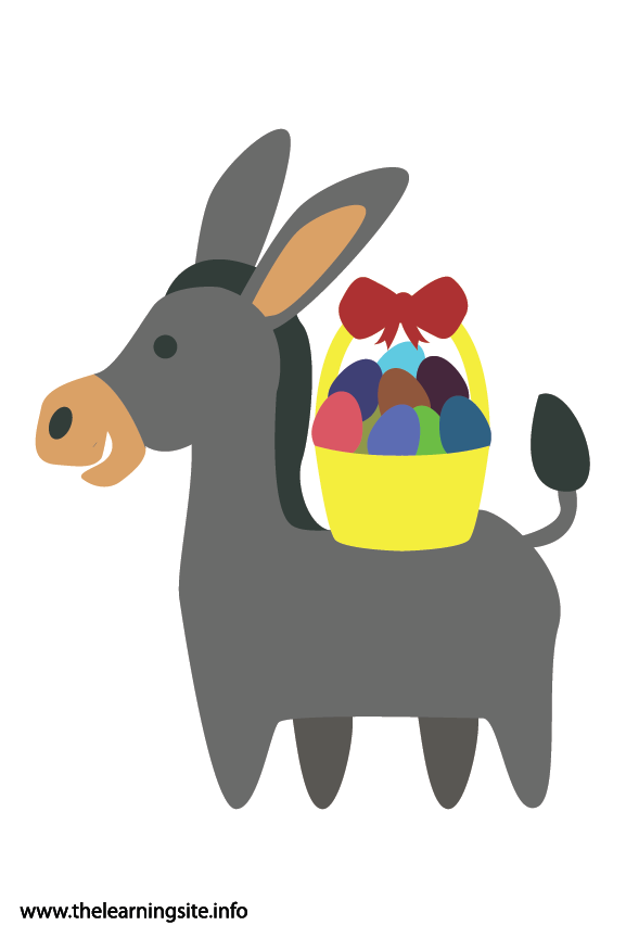 Easter Donkey Flashcard Illustration