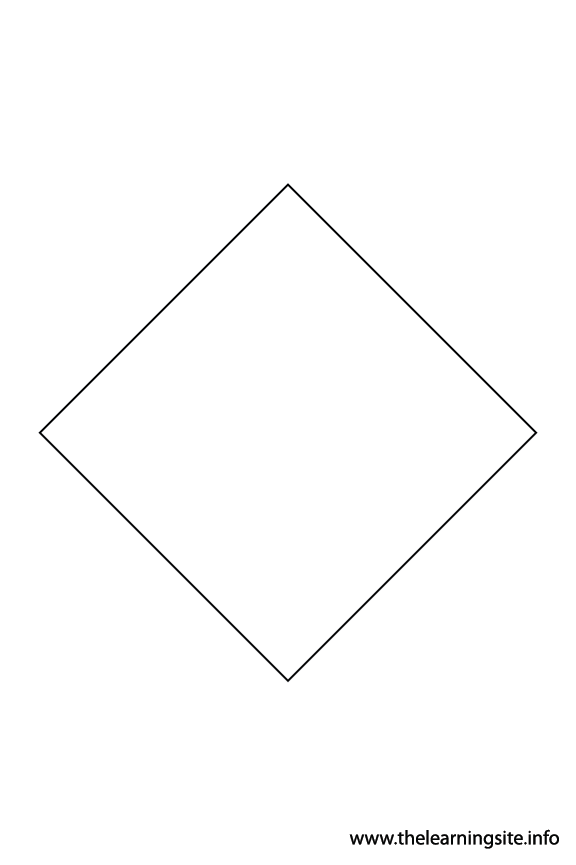 Quadrilateral - 4 sides Polygon Shape Coloring Page Outline Flashcard Illustration