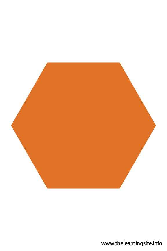 Hexagon - 6 sides Polygon Shape Flashcard Illustration