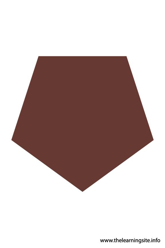 Pentagon - 5 sides Polygon Shape Flashcard Illustration