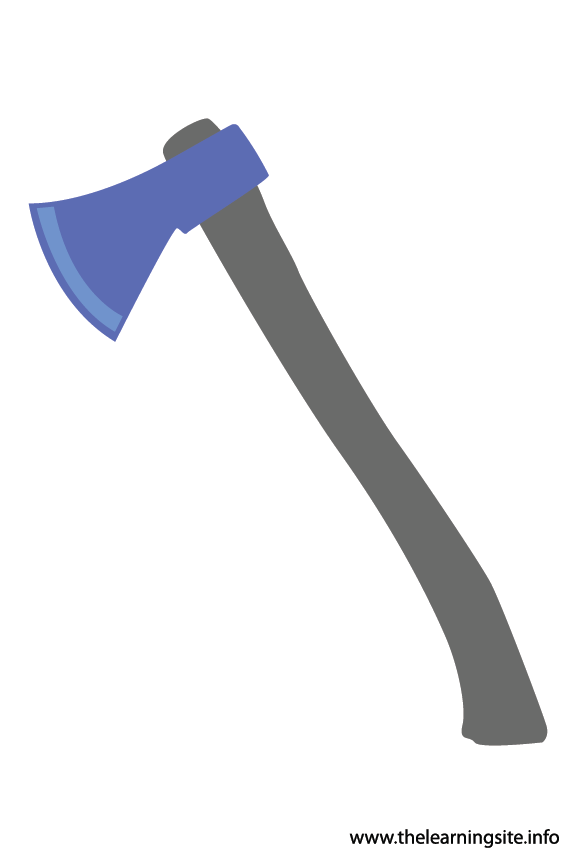 Tool Axe Flashcard Illustration