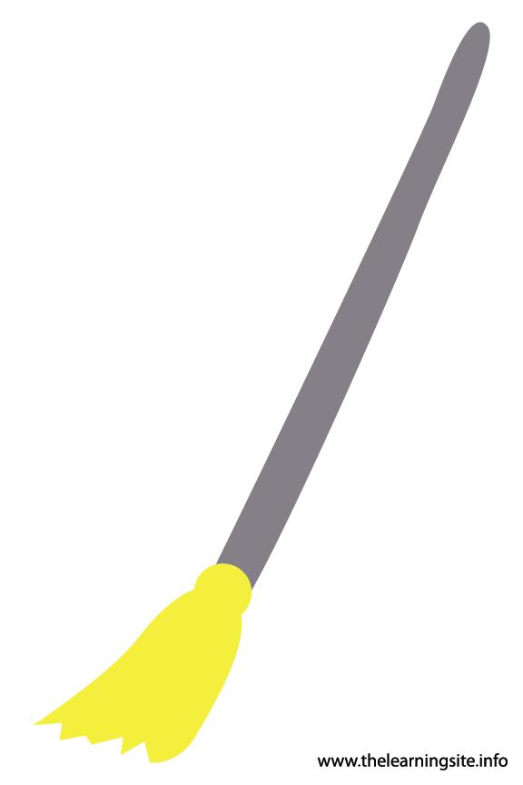 Tool Broom Flashcard Illustration