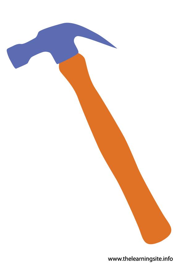 Tool Hammer Flashcard Illustration
