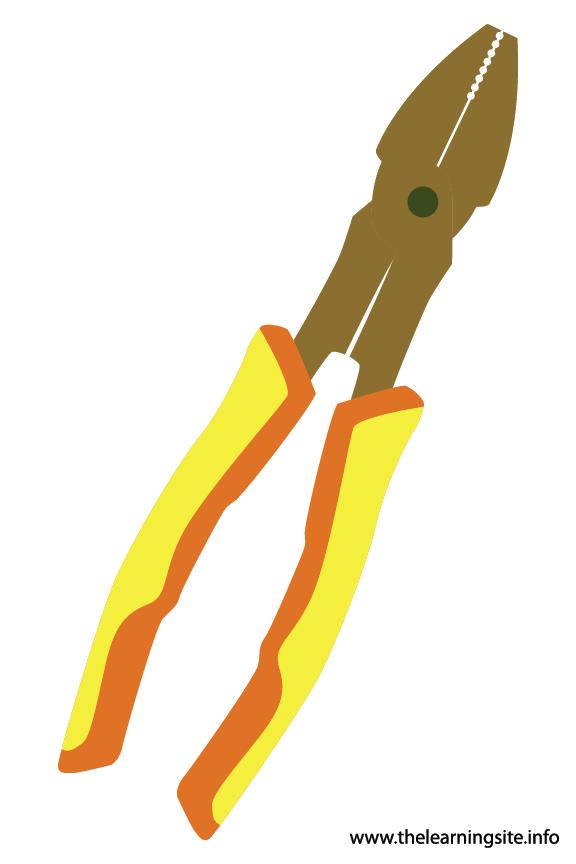 Tool Pliers Flashcard Illustration