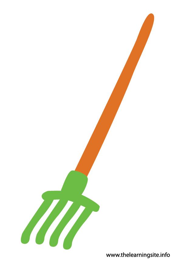 Tool Rake Flashcard Illustration