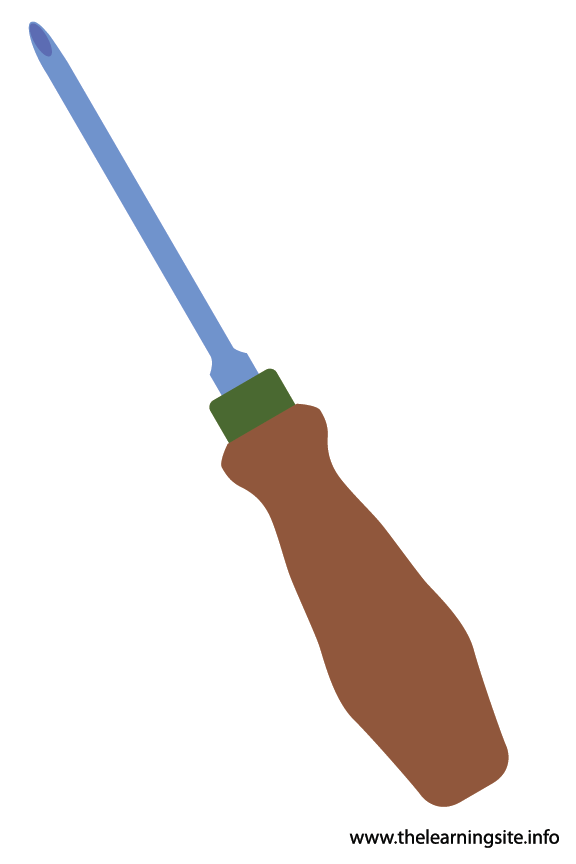 Tool Screwdriver Flashcard Illustration