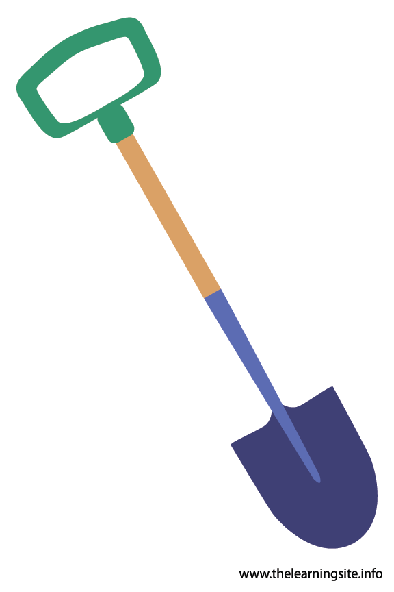 Tool Shovel Flashcard Illustration