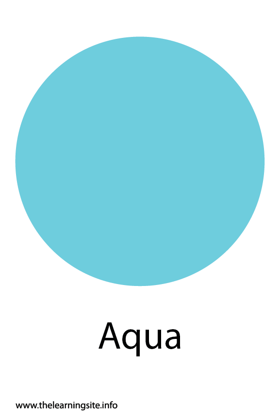 Aqua Color Flashcard Illustration