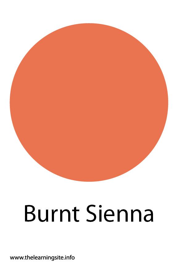 Burnt Sienna Color Flashcard Illustration