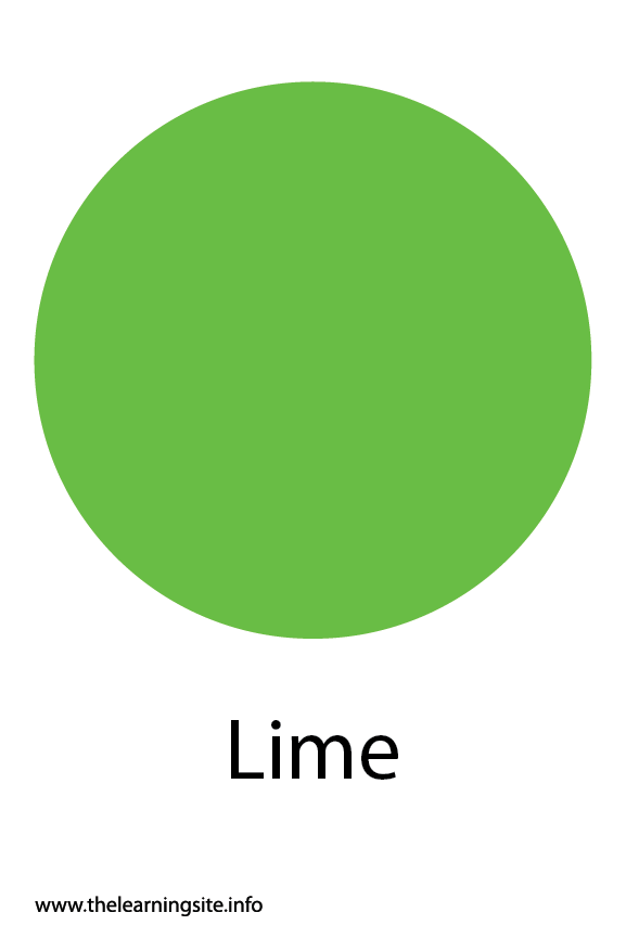 Lime Color Flashcard Illustration