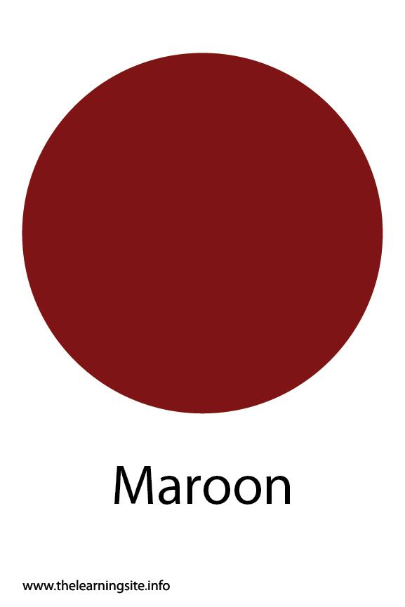 Maroon Color Flashcard Illustration