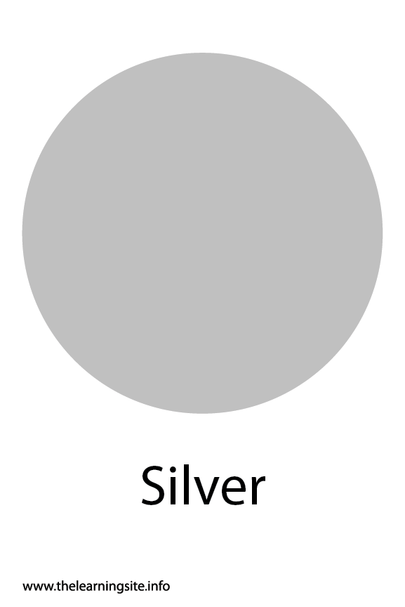 Silver Color Flashcard Illustration
