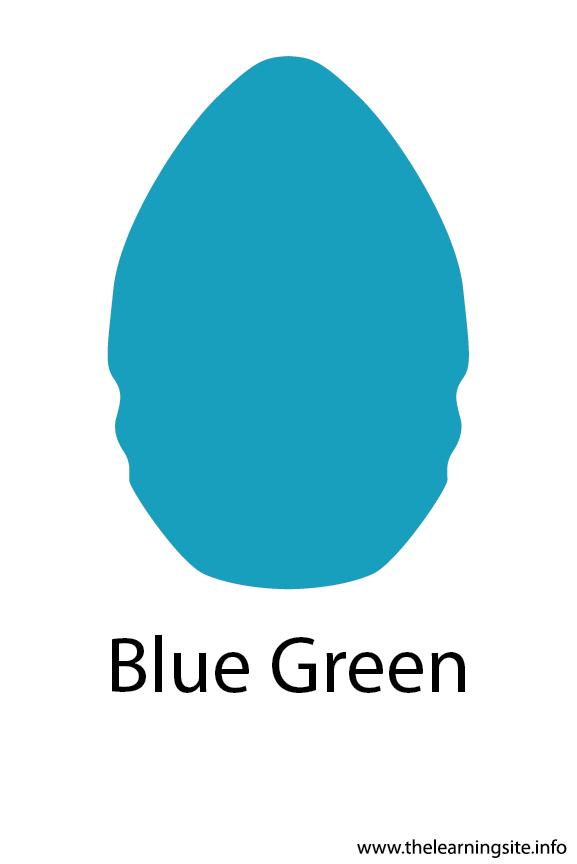 Blue Green Crayola Color Flashcard Illustration