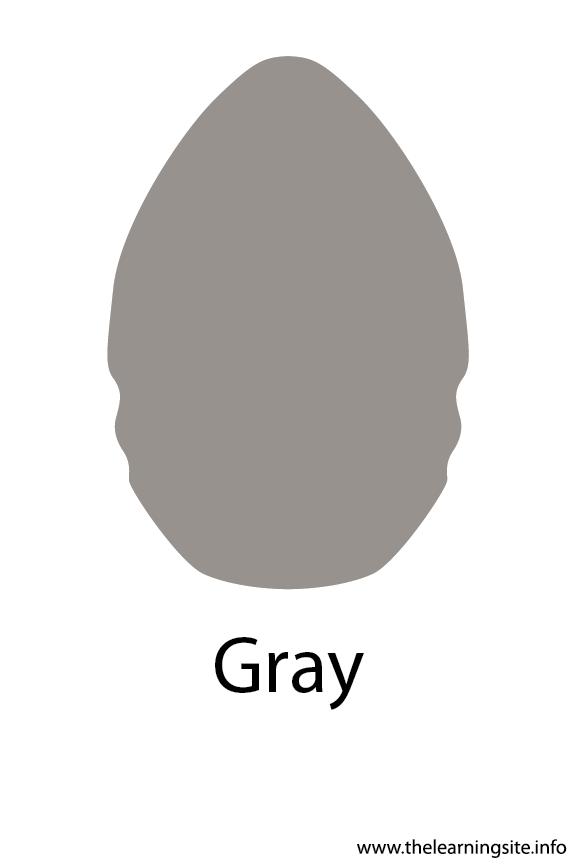 Gray Crayola Color Flashcard Illustration