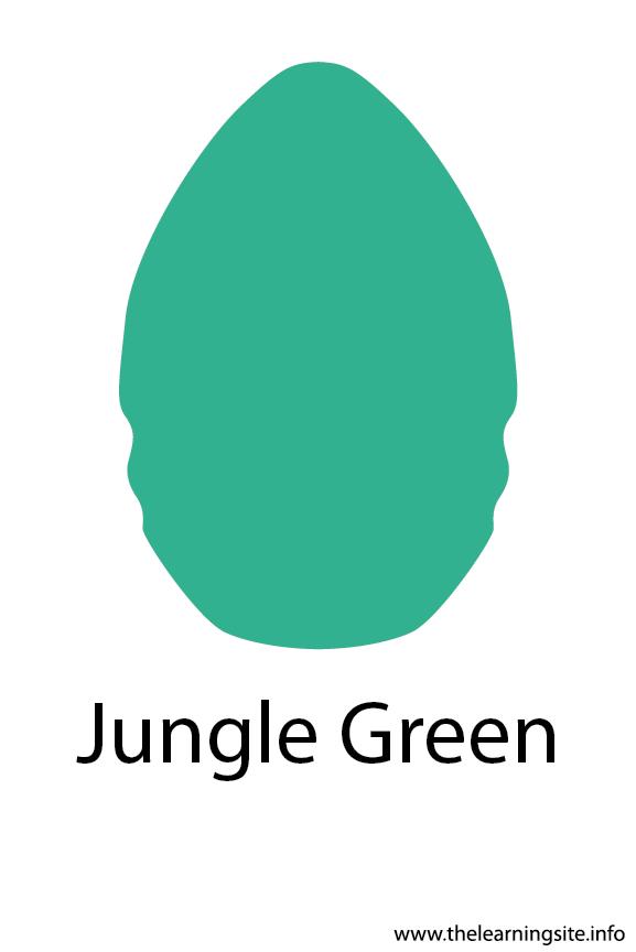 Jungle Green Crayola Color Flashcard Illustration
