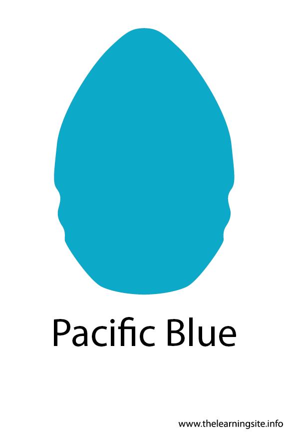 Pacific Blue Crayola Color Flashcard Illustration