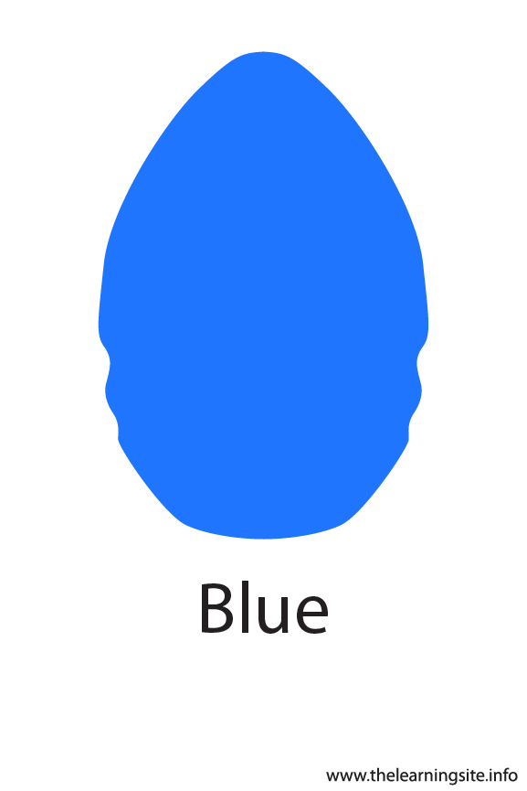 Blue Color Flashcard Illustration