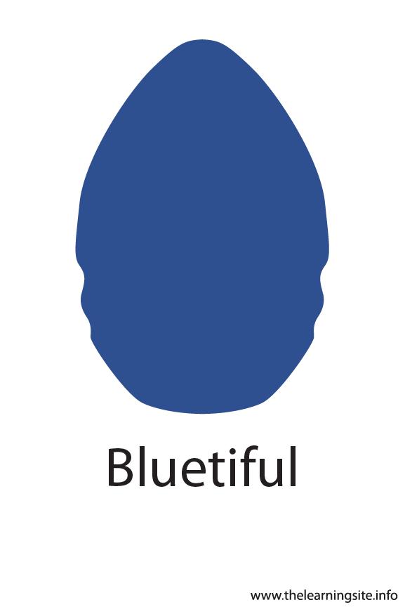 Bluetiful Crayola Color Flashcard Illustration