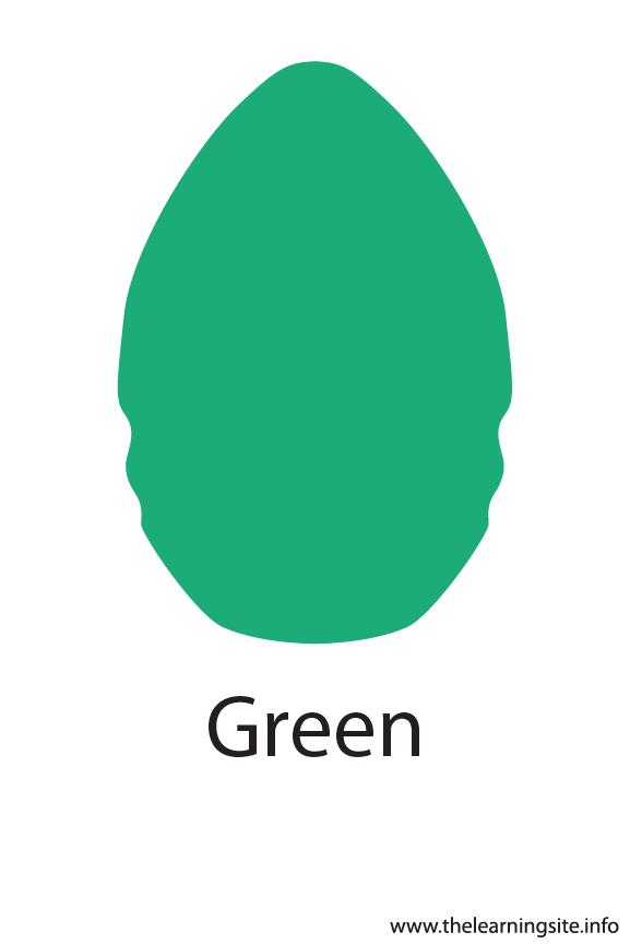 Green Crayola Color Flashcard Illustration