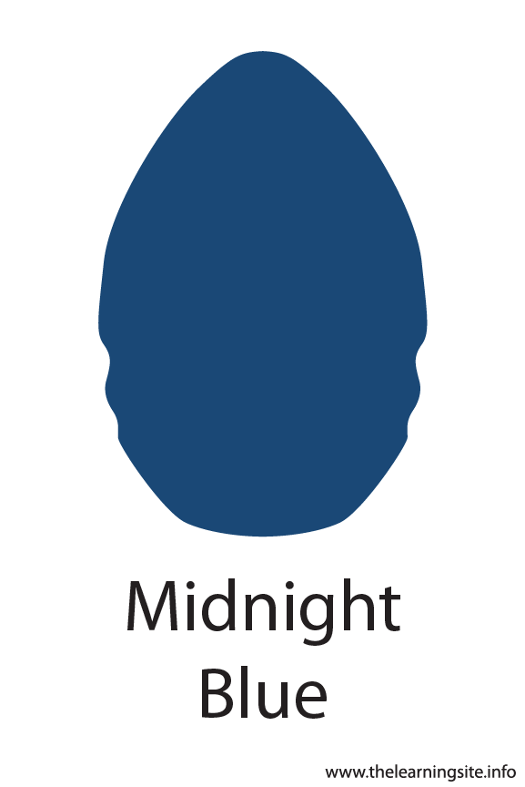 Midnight Blue Crayola Color Flashcard Illustration