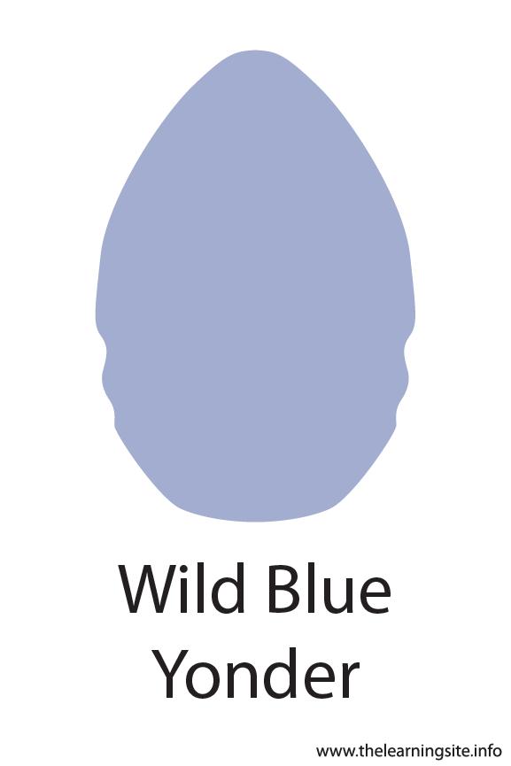 Wild Blue Yonder Crayola Color Flashcard Illustration
