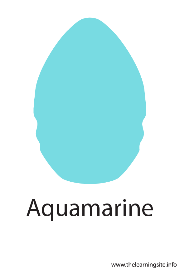 Aquamarine Crayola Color Flashcard Illustration