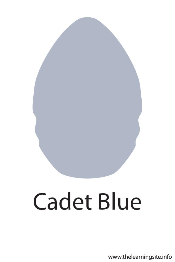 Cadet Blue Crayola Color Flashcard Illustration