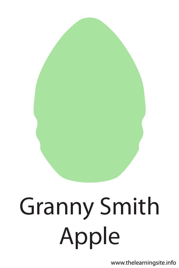 Granny Smith Apple Crayola Color Flashcard Illustration