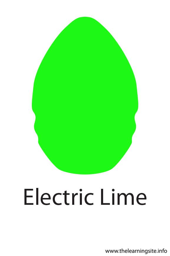 Electric Lime Crayola Color Flashcard Illustration