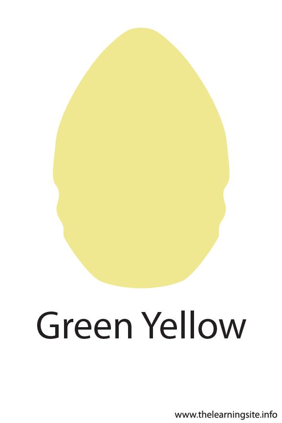 Green Yellow Crayola Color Flashcard Illustration