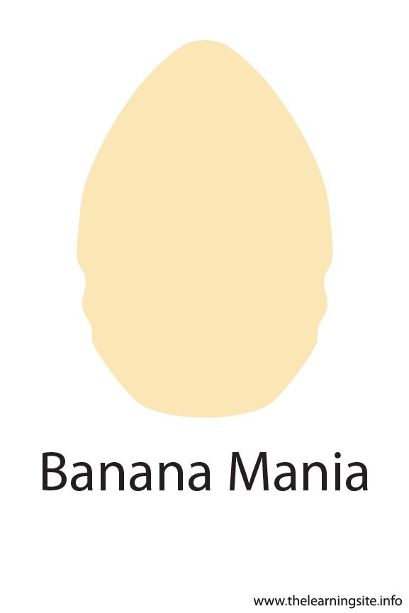 Banana Mania Crayola Color Flashcard Illustration