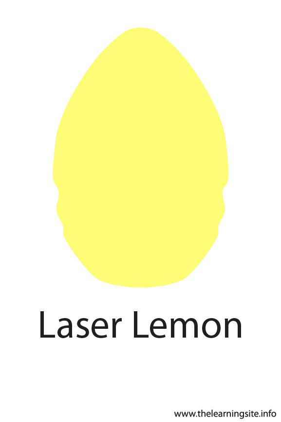 Laser Lemon Crayola Color Flashcard Illustration