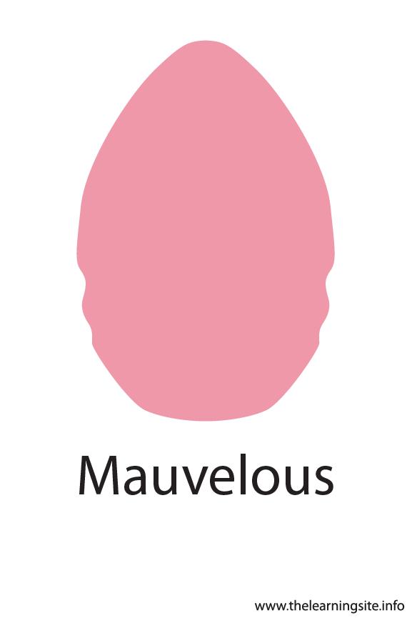 Mauvelous Crayola Color Flashcard Illustration