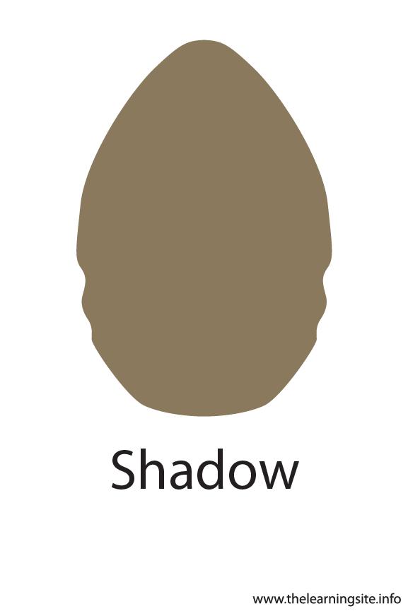 Shadow Crayola Color Flashcard Illustration