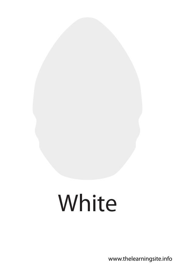 White Crayola Color Flashcard Illustration