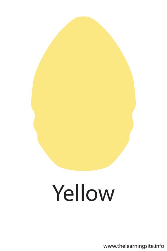 Yellow Crayola Color Flashcard Illustration